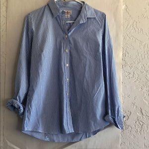 Jcrew button down long sleeve stripe shirt